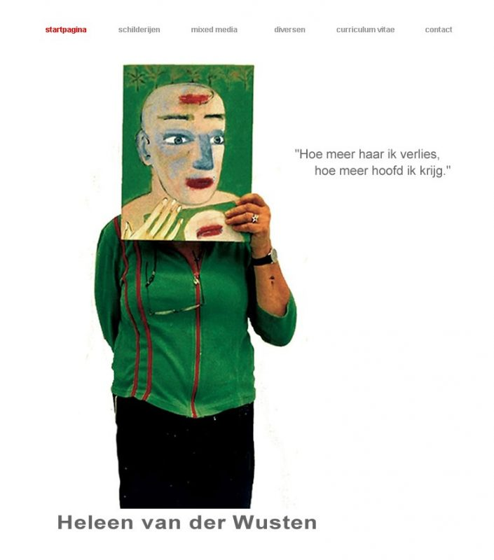 Website voor kunstenaares Heleen van der Wusten