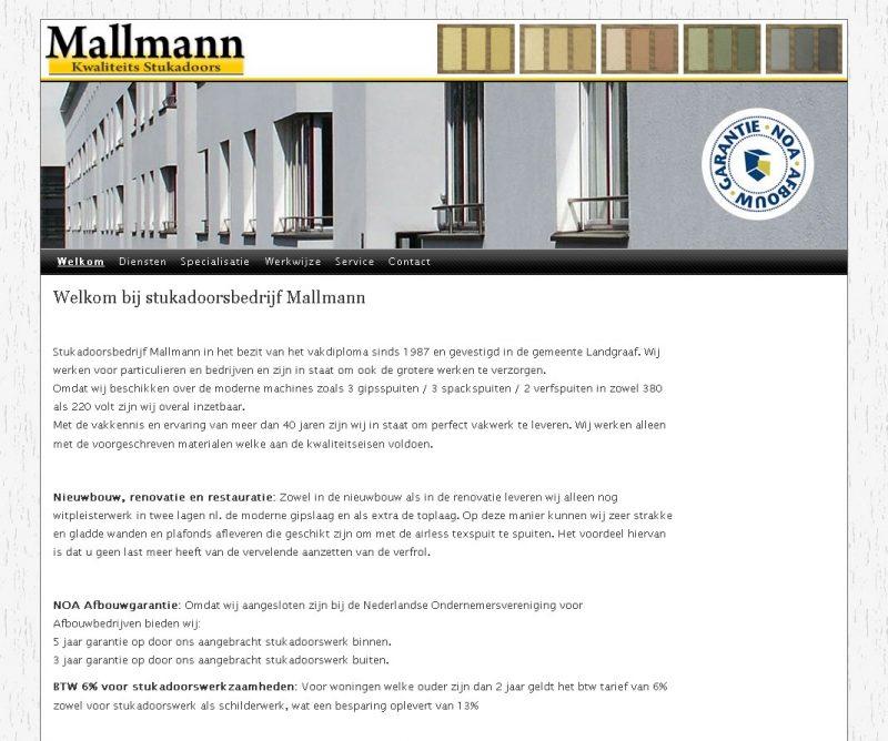 Website met beheersysteem voor D. Mallmann te Landgraaf