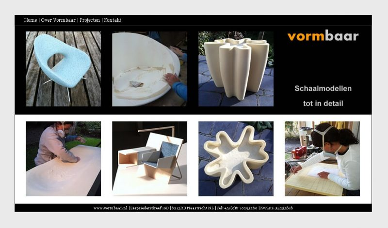 Website www.vormbaar.nl voor Daniëlle Colson