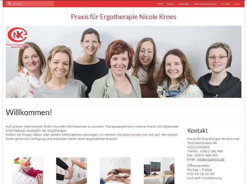 Website met beheersysteem voor Nicole Kroes