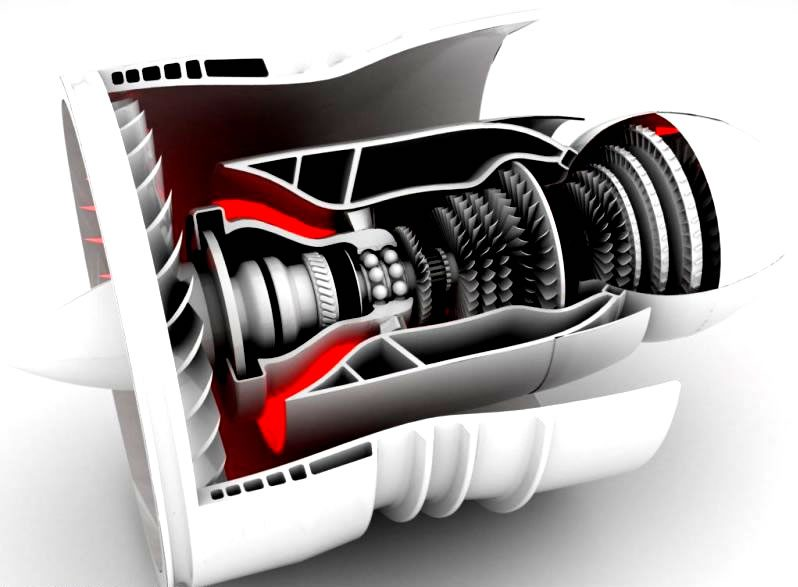 Turbinemotor, modelstudie