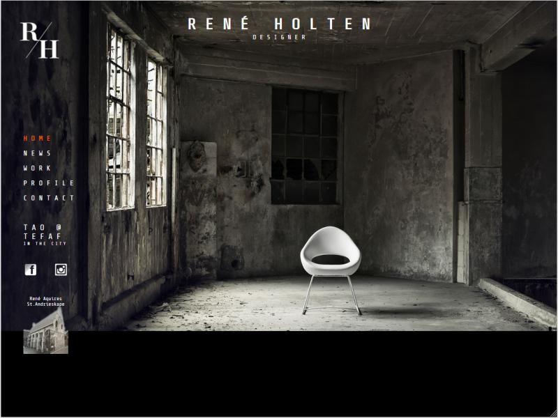 Nieuw design voor Website van René Holten, Designer te Maastricht
