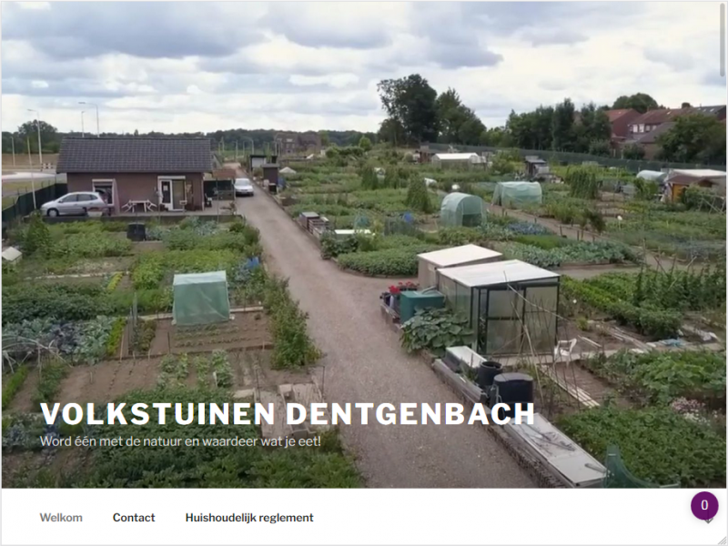 Website voor de volkstuinen Dentgenbach